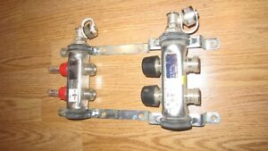 2 branch Pex Radiant Floor Heating Manifold Stainless Steel For 1 2 Pex