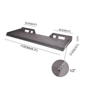 1 2 Steel Quick Tach Attachment Mount Plate Skid Steer Bobcat Loader Heavy Duty