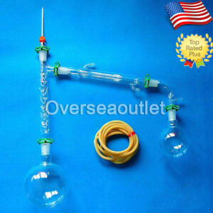 1000ml 24 40 Distillation Apparatus Vacuum Distill Kit Vigreux Column With Arm