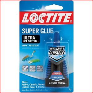 Super Glue 6 Pack Ultra Gel Control No Clog Cap Rubberized Moisture Resistant