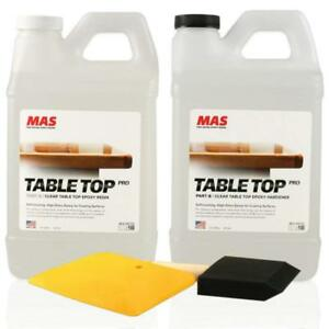 Crystal Clear Epoxy Resin One Gallon Kit Mas Table Top Pro Epoxy