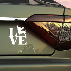 Love Chihuahua Funny Dog Car Bumper Sticker Car Body Or Window Decal Truck Heart