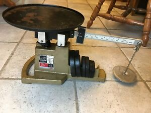 Vintage Ohaus 16kg 35lb Field Test Scale Weights Usa