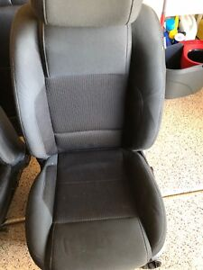 2013 2014 Ford Mustang Front Rear Seat Bottom Set Coupe Cloth Oem