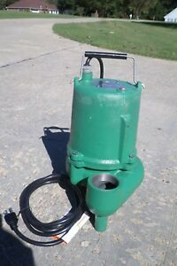 Hydromatic Pump Sp40m1 1 Phase 115 Volt Cast Iron Submersible Sewage Ejector