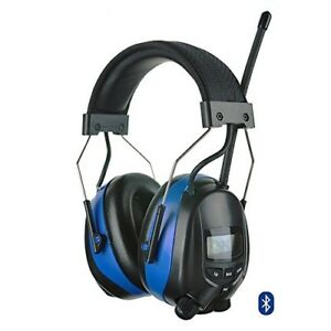Protear Bluetooth Hearing Protection Earmuffs With Digital Am Fm Radio nrr 25db