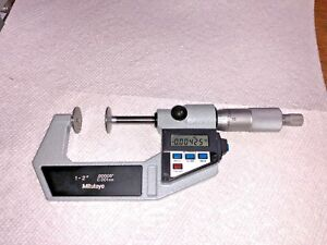 Mitutoyo Digital Disc Micrometer 1 2 00005 0 001mm 323 712