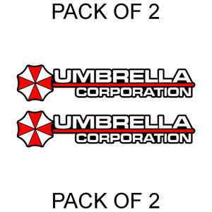 2x Umbrella Corporation Hive Resident Evil Vinyl Sticker Car Truck Window Decal