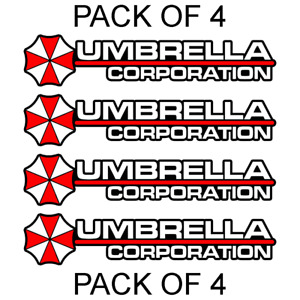 4x Umbrella Corporation Hive Resident Evil Vinyl Sticker Car Truck Window Decal