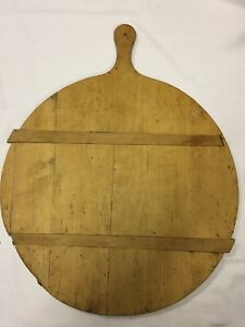 Early Primitive Large Round Bread Or Dough Board Pr345