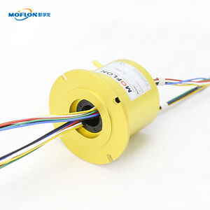Mt2586f Slip Rings With Bore Size 25 4mm 1 12 Wires 10a Each moflon Slip Ring