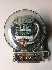 Vintage Westinghouse Power Meter 240 Volts Model Ca 3 Wire