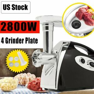 Electric Meat Grinder Commercial Butcher Supply 2800w Mincer 4 Cutting Blades Br