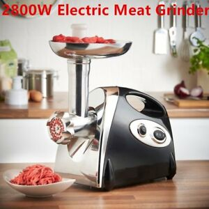 Electric Meat Grinder Commercial Butcher 2800w Mincer 4 Cutting Blades Tool Br
