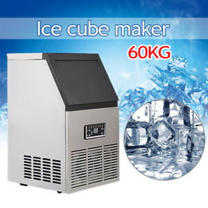60kg Built in Stainless Steel Commercial Ice Maker Auto Ice Machine Restaurant