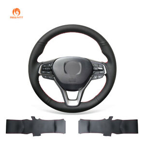 Black Artificial Pu Leather Car Steering Wheel Cover For Honda Accord 10 Insight