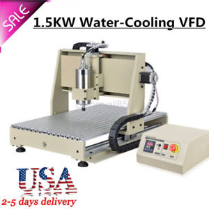4 Axis 1500w Vfd Cnc 6040 Wood Engraving Carving Milling Machine Router Engraver