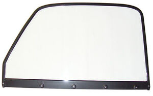 1947 1948 1949 1950 Chevrolet Gmc Truck Lh Clear Door Glass Assm W Black Frame