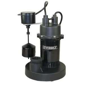 Everbilt 1 3 Hp Submersible Sump Pump With Vertical a16