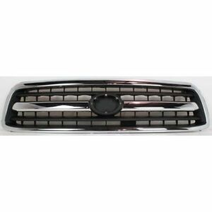 Grille For 2000 2002 Toyota Tundra Chrome Shell W Black Insert Plastic