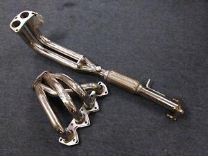 Stainless Steel Header Manifold For 92 96 Honda Prelude Si Coupe 2 3l Return
