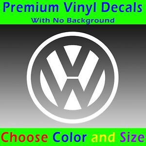 Volkswagen Decal Vinyl Volkswagen Emblem Sticker Vw Golf Jetta Bug Beetle Bus