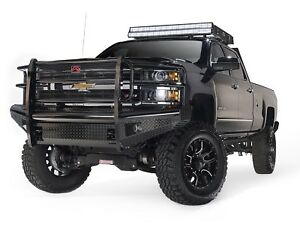 Fab Fours Ch14 S3060 1 Black Steel Front Ranch Bumper