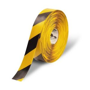 Mighty Line Deluxe Safety Floor Tape 2 X 100 Yellow black Chevrons