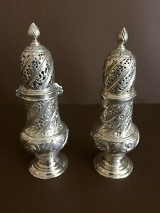 Gorham Sterling Silver Elegant Salt And Pepper Shakers
