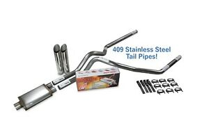 Dodge Ram 1500 04 08 2 5 Stainless Dual Exhaust Kit Cherry Bomb Salute Sl Tips
