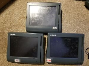 Lot Of 3 Micros Workstation 4 Pos Terminals 500614 001