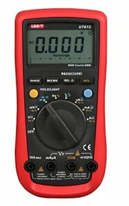 Uni t Ut61c Digital Multimeters Auto Rangeac Rs232 usb Interface lcd Back