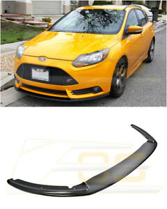 Carbon Fiber Add On Front Bumper Lower Splitter Lip For 2012 2014 Ford Focus St