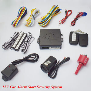 12v Car Engine Fingerprint Start Button Lock Keyless Entry Alarm Security System
