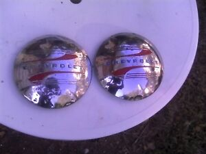 A Pair Of 1941 46 Chevrolet Pickup Hubcaps