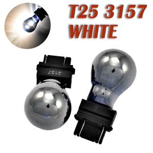 Front Signal T25 3057 3157 4157 White Silver Chrome Bulb K1 For Lincoln Saturn A