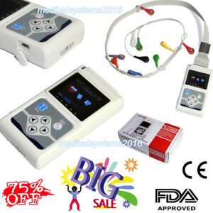 Tlc5000 Ecg ekg System 12 Channel Holter Monitor 24 Hours pc Software Newest Usa
