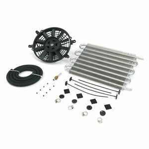 Mishi Moto Style Trans Cooler Kit Mmoc f Heavy Duty Universal w Fan Kit Fan