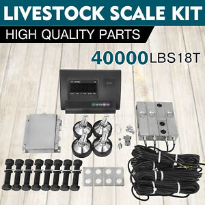 40000lbs Livestock Scale Kit For Animals Platform Scales Load Cells 18t