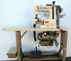 Singer 302w405 Chainstitch 4 needle Cylinder Bed Industrial Sewing Machine 220v