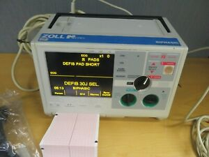 Zoll M series Biphasic Monitor 3 Lead Aed Ecg Pacing Analyze Print 16117