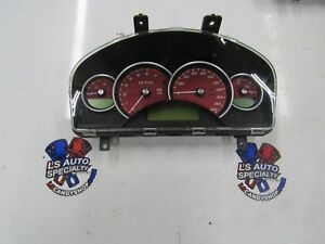 2005 2006 Gto Ls2 Gauge Cluster Red Manual 6 sp Customized Supercharged 109k 2c1