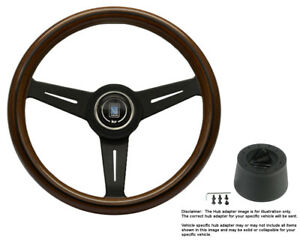 Nardi Steering Wheel Classic 330 Mm Wood black With Hub For Mercedes 240d W123