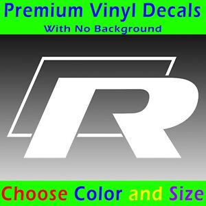 Volkswagen R Decal Vinyl Sticker Vw Golf Mk4 Mk5 Mk6 Mk7 Gti R32 Gtd R Line