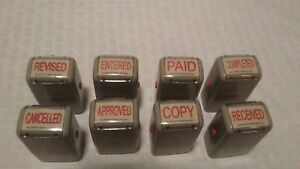 8 Self Inking Rubber Stamp Ideal 30 Paid Copy Cancelled Completed And More