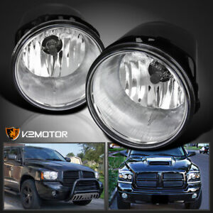 2005 2010 Jeep Grand Cherokee Commander Durango Dakota Clear Fog Lights W Switch