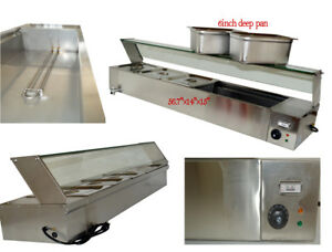 6 deep Pan 5 pan Countertop Steam Table Bain Marie Food Warmer 110v1500w Us New