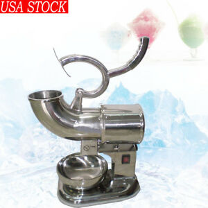 Us Ship 440lbs 220w Ice Shaver Sno Snow Cone Maker Shaved Icee Electric Crusher