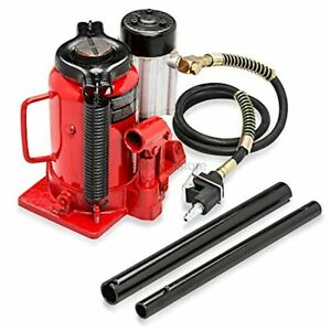 Tooluxe 31010l Low Profile Air Hydraulic Manual Bottle Jack 20 Tons