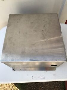 Hoffman Electrical Enclosure Box 4x Stainless Steel 12 X 12 X 6 25
